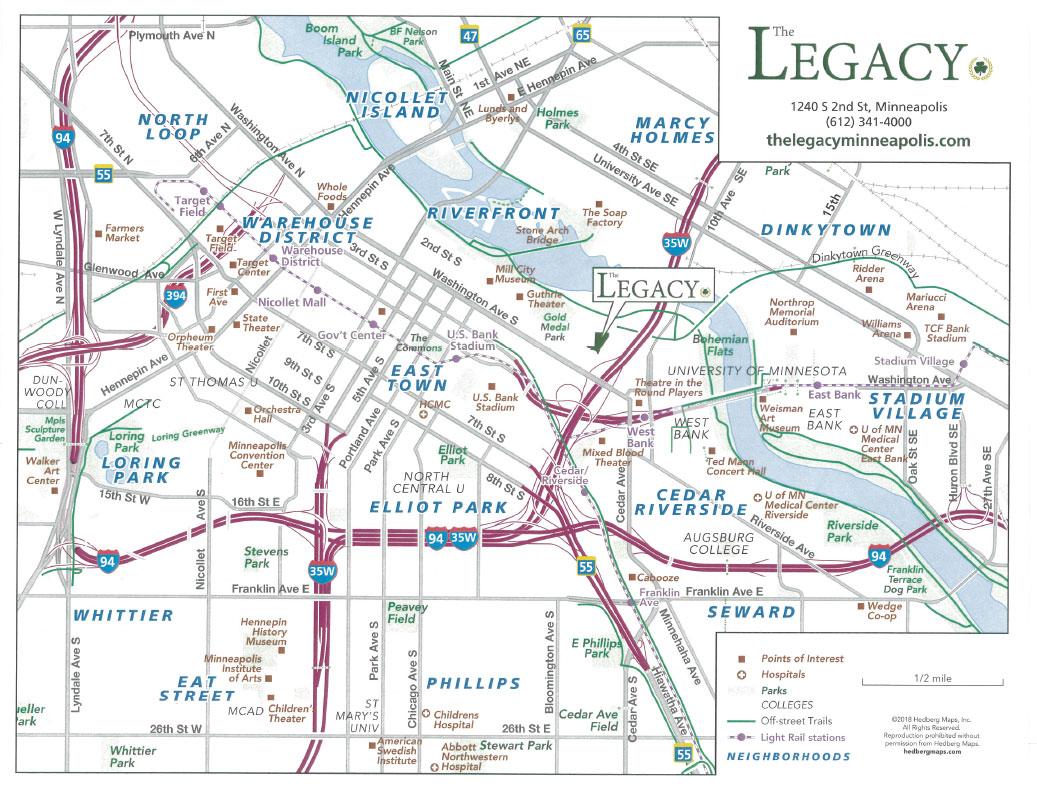 The Minneapolis Mill District Neighborhood   The Legacy Minneapolis